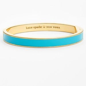 Kate Spade Turquoise Enamel Hinged Bangle
